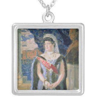 Portrait of the Grand Duchess Maria Pavlovna Square Pendant Necklace