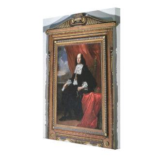 Portrait of the Grand Duke Cosimo III (oil on canv Canvas Print