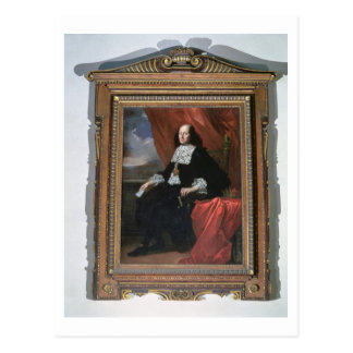 Portrait of the Grand Duke Cosimo III (oil on canv Postcard