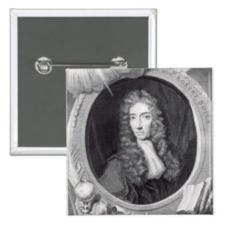 Portrait of the Honorable Robert Boyle 2 Inch Square Button