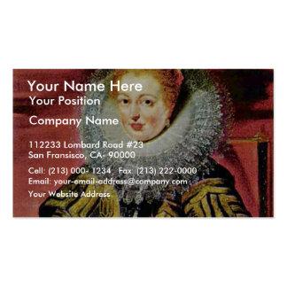 Portrait Of The Infanta Isabella Clara Eugenia Reg Business Cards