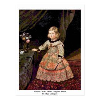 Portrait Of The Infanta Margareta Teresa Postcard