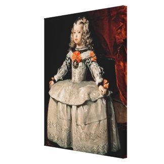 Portrait of the Infanta Margarita Aged Five Canvas Print