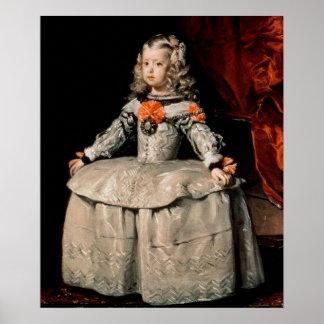 Portrait of the Infanta Margarita Aged Five Poster