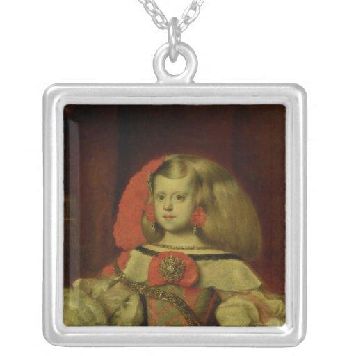 Portrait of the Infanta Margarita Square Pendant Necklace