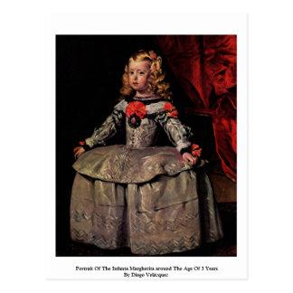 Portrait Of The Infanta Margherita Postcard