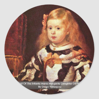 Portrait Of The Infanta Maria Margarita Classic Round Sticker