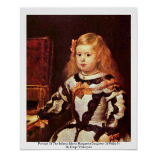 Portrait Of The Infanta Maria Margarita Poster