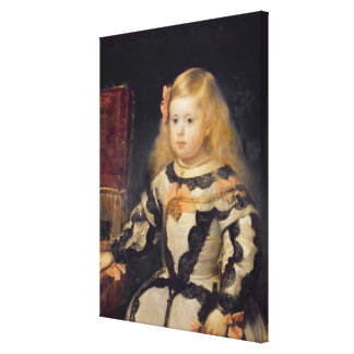 Portrait of the Infanta Maria Marguerita  1654 Canvas Print