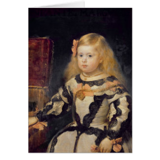 Portrait of the Infanta Maria Marguerita  1654 Card