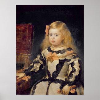 Portrait of the Infanta Maria Marguerita  1654 Posters