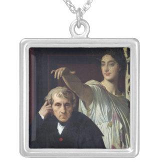 Portrait of the Italian Composer Cherubini Silver Plated Necklace