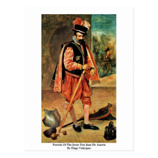 Portrait Of The Jester Don Juan De Austria Post Card