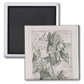 Portrait of the Last Inca Chief, Atahualpa Magnet