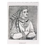 Portrait of the Last Inca Chief, Atahualpa Postcard