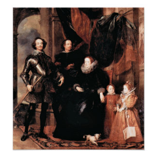 Portrait of the Lomellini family by Van Dyck Poster