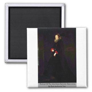 Portrait Of The Marchesa Spinola Geronima 2 Inch Square Magnet