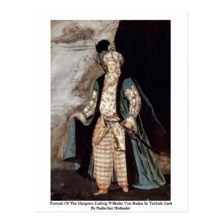 Portrait Of The Margrave Ludwig Wilhelm Von Baden Postcard