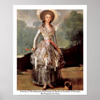 Portrait Of The Marquesa De Pontejos Y Sandoval Print