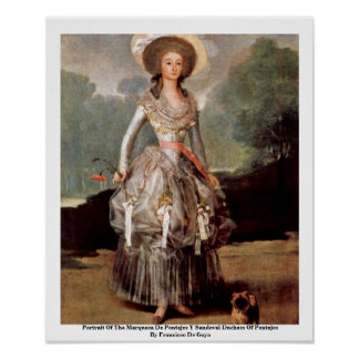 Portrait Of The Marquesa De Pontejos Y Sandoval Posters