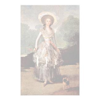 Portrait Of The Marquesa De Pontejos Y Sandoval Stationery