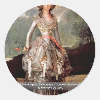 Portrait Of The Marquesa De Pontejos Y Sandoval Classic Round Sticker