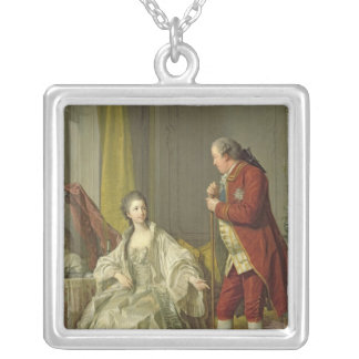 Portrait of the Marquis de Marigny and his Silver Plated Necklace