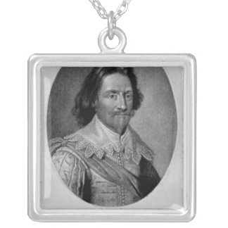 Portrait of The Marquis of Vieu Ville Silver Plated Necklace