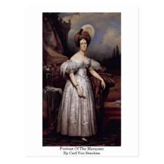 Portrait Of The Marquise By Carl Von Steuben Postcard