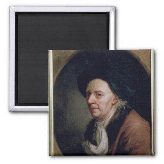 Portrait of the Mathematician Leonard Euler 2 Inch Square Magnet