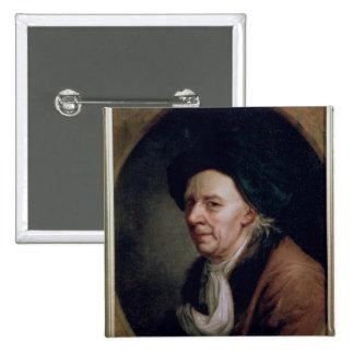 Portrait of the Mathematician Leonard Euler 2 Inch Square Button