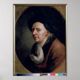 Portrait of the Mathematician Leonard Euler Poster