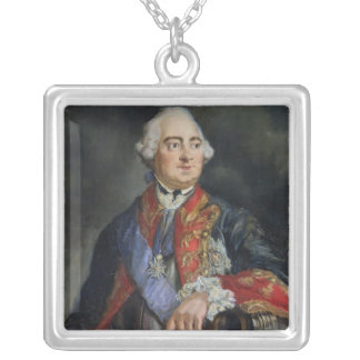 Portrait of the Mathematician Leonhard Euler Silver Plated Necklace