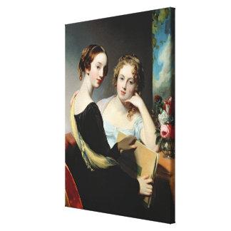 Portrait of the McEuen sisters, after 1823 Canvas Prints