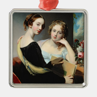 Portrait of the McEuen sisters, after 1823 Metal Ornament