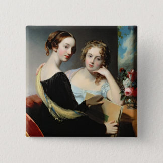Portrait of the McEuen sisters, after 1823 Pinback Button