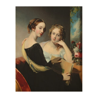 Portrait of the McEuen sisters, after 1823 Wood Wall Art