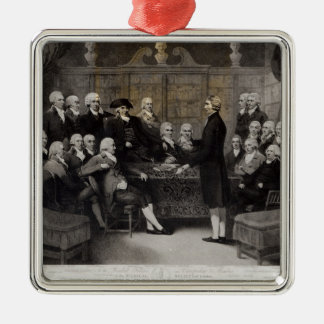 Portrait of the Medical Society Members of Metal Ornament
