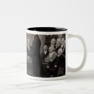 Portrait of the Medical Society Members of Two-Tone Coffee Mug