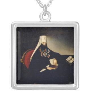 Portrait of the Metropolitan Philaret Silver Plated Necklace