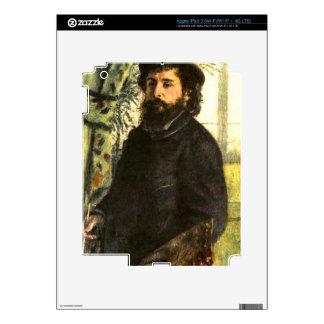 Portrait of the painter Claude Monet by Renoir iPad 3 Skins