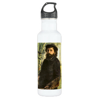 Portrait of the painter Claude Monet by Renoir Water Bottle