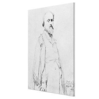 Portrait of the painter Hippolyte Flandrin Canvas Print