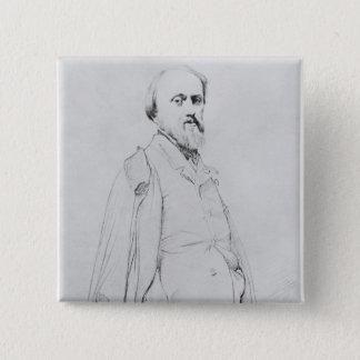 Portrait of the painter Hippolyte Flandrin Pinback Button
