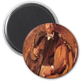 Portrait Of The Painter Paul Von Szinyei Merse Refrigerator Magnets