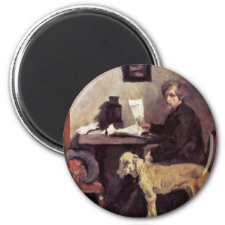 Portrait Of The Painter Sattler With His Great Dan Magnet