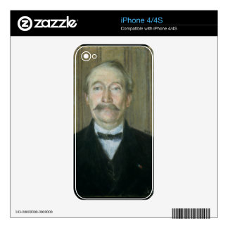 Portrait of the Patriarch (pastel on paper) iPhone 4S Decal