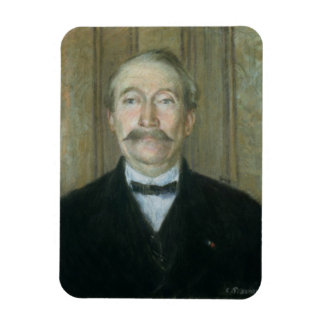 Portrait of the Patriarch (pastel on paper) Rectangular Photo Magnet