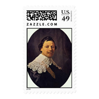 Portrait Of The Philips Lukasz By Rembrandt Stamp
