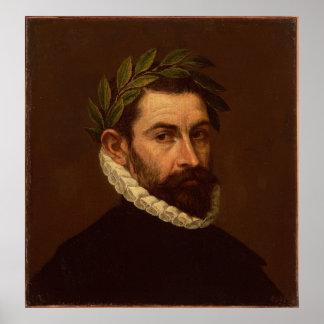 Portrait of the Poet Alonso Ercilla y Zuniga Poster